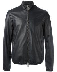 Emporio Armani   Black Zip Up Jacket for Men   Lyst