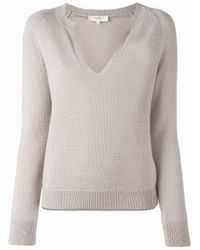 Vanessa Bruno Athé | Natural V-neck Knitted Top | Lyst