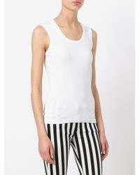 M Missoni - White Slim-fit Tank - Lyst