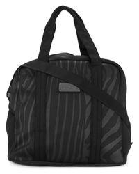 Adidas By Stella McCartney | Black Zebra Stripe Sports Bag | Lyst