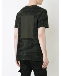 T By Alexander Wang - Green Camouflage Print T-shirt for Men - Lyst