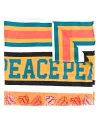 Paul Smith   Blue 'peace' Striped Scarf for Men   Lyst