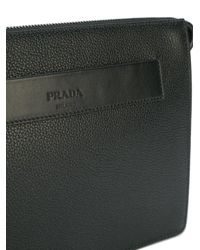 Prada - Black - Clutch Bag - Men - Calf Leather - One Size for Men - Lyst