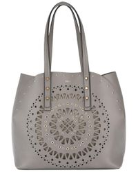 Furla | Brown - Cut-out Pattern Tote Bag - Women - Leather - One Size | Lyst