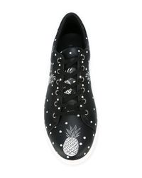 Dolce & Gabbana - Black Pineapple Print Trainers - Lyst