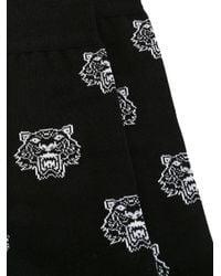 KENZO - Black All-over 'mini Tiger' Socks for Men - Lyst