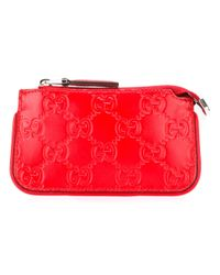 Gucci | Red Signature Key Case | Lyst