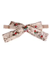 Gucci - Pink - Sequin Neck Bow - Women - Cotton/plastic/polyamide/glass - One Size - Lyst