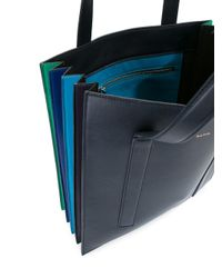 Paul Smith - Blue Accordion Tote Bag - Lyst