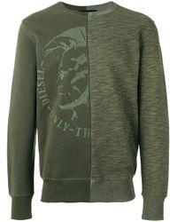 DIESEL | Green - 's-joe' Sweatshirt - Men - Cotton - S for Men | Lyst