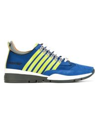 DSquared² | Blue - 251 Sneakers - Men - Leather/patent Leather/suede/rubber - 40 for Men | Lyst
