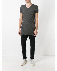 Rick Owens - Green Long Length T-shirt for Men - Lyst