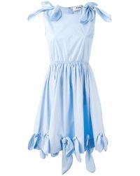 MSGM - Blue Tie Knot Details Dress - Lyst