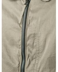 Ziggy Chen - Natural Zipped Coat for Men - Lyst