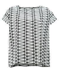 Issey Miyake - Black Geometric Short Sleeved Top - Lyst