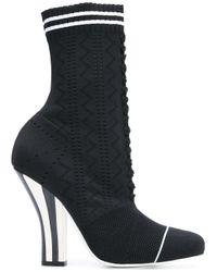 Fendi | Black High Heel Boots | Lyst