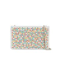 Christian Louboutin | White Spike Embellished Clutch Bag | Lyst