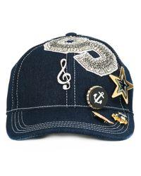Dolce & Gabbana - Blue Music-embellishment Baseball Cap for Men - Lyst
