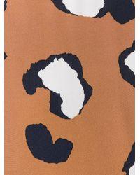 Sportmax - Brown Printed Long Sleeve Blouse - Lyst