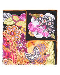 Ferragamo | Black Floral Print Scarf | Lyst
