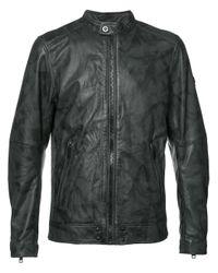 DIESEL | Gray - Biker Jacket - Men - Sheep Skin/shearling/polyester - S for Men | Lyst