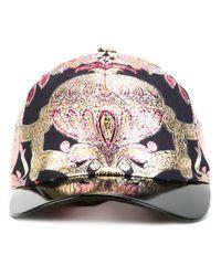 42cde60fc14 Lyst - Gucci Lurex Cap in Black