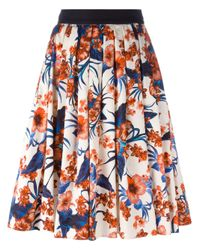 Fausto Puglisi | Multicolor Flared Floral Skirt | Lyst