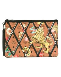 MCM | Multicolor Printed Zip Clutch for Men | Lyst