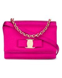 Ferragamo   Pink Mini 'ginny' Shoulder Bag   Lyst