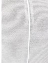 Rick Owens - White Fitted Vest Top - Lyst