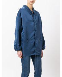 Balenciaga - Blue - Shirt-style Jacket - Women - Nylon/cupro - 34 - Lyst