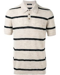 Roberto Collina | Natural - Polo Top - Men - Cotton/linen/flax/polyester - 54 for Men | Lyst