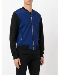 Versus - Black Lion Embroidered Bomber Jacket for Men - Lyst
