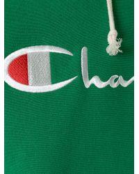Champion - Green Logo Hoodie for Men - Lyst