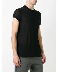 Rick Owens Drkshdw - Black Short Sleeve T-shirt for Men - Lyst
