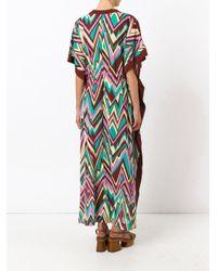 M Missoni - Brown Zigzag Print Shift Dress - Lyst