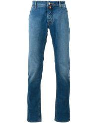 Jacob Cohen | Blue Contrast Brand Patch Jeans for Men | Lyst
