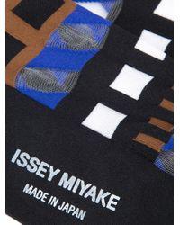 Issey Miyake - Black Printed Socks - Lyst