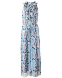 Zimmermann | Blue 'winsome' Floral-print Jumpsuit | Lyst