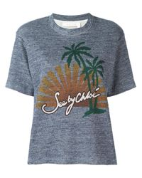 See By Chloé | Blue Sunset Print T-shirt | Lyst
