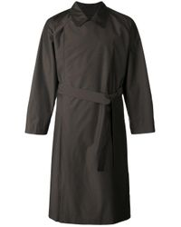 E. Tautz | Brown - Double Breasted Trench Coat - Men - Nylon/wool - Xs for Men | Lyst