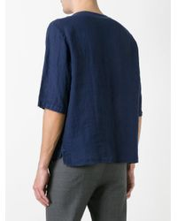 Barena - Blue Half Sleeve Pocket T-shirt for Men - Lyst