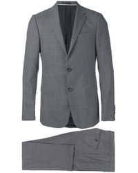 Z Zegna   Gray - Notched Lapel Two-piece Suit - Men - Acetate/cupro/viscose/wool - 46 for Men   Lyst