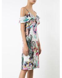 Black Halo - Blue Abstract Print Dress - Lyst