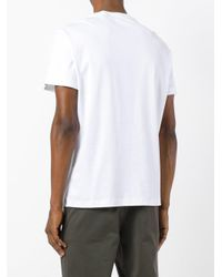 Ferragamo - White Chest-print T-shirt for Men - Lyst