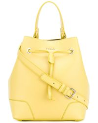 Furla | Yellow Medium Bucket Bag | Lyst