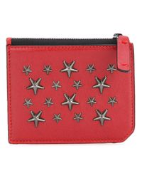 Jimmy Choo | Red - Belmont Wallet - Men - Calf Leather - One Size for Men | Lyst