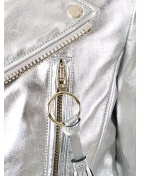 Off-White c/o Virgil Abloh | Metallic Diagonal Carryover Biker Jacket | Lyst