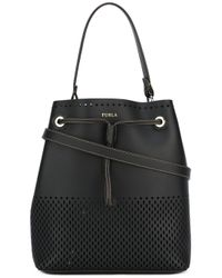 Furla | Black - Stacy Bucket Tote - Women - Leather - One Size | Lyst