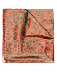 Roberto Cavalli   Red Animal Print Scarf   Lyst